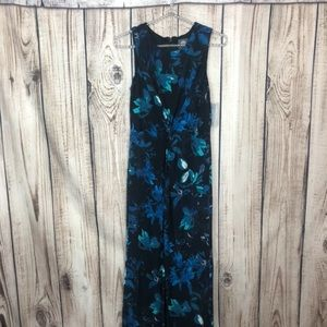 NWT Vince Camuto Blue Floral Maxi Dress 4